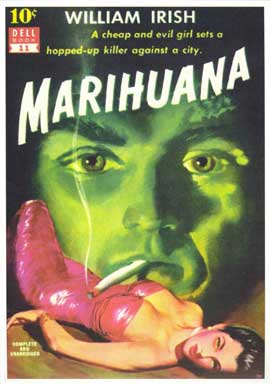 Marihuana - 11 x 17 Retro Book Cover Poster