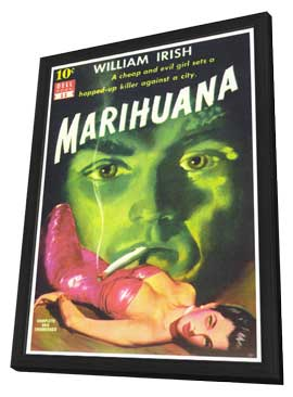 Marihuana - 11 x 17 Retro Book Cover Poster - in Deluxe Wood Frame