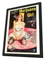 Marijuana Girl - 27 x 40 Movie Poster - Style A - in Deluxe Wood Frame