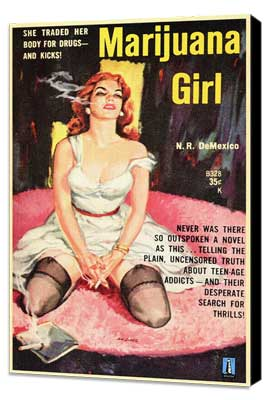 Marijuana Girl - 11 x 17 Movie Poster - Style A - Museum Wrapped Canvas