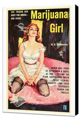 Marijuana Girl - 27 x 40 Movie Poster - Style A - Museum Wrapped Canvas