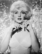 Marilyn Monroe - Marilyn Monroe Posed with Diamond Earrings and White Sequin Dress