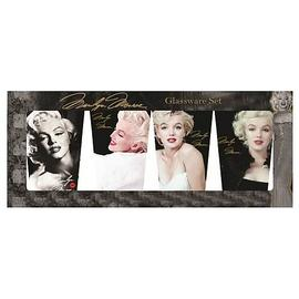 Marilyn Monroe - Faces of Marilyn Glass Tumbler 4-Pack