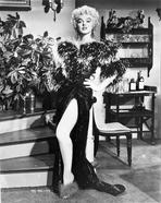 Marilyn Monroe - Marilyn Monroe standing in Fur Dress Classic Portrait