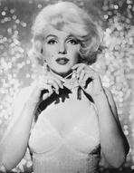 Marilyn Monroe - Marilyn Monroe Posed with Diamond Earrings and White Sequin Dress