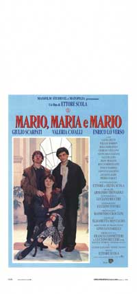 Mario, Maria and Mario - 13 x 28 Movie Poster - Italian Style A