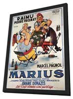 Marius - 11 x 17 Poster - Foreign - Style A - in Deluxe Wood Frame