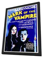 Mark of the Vampire - 11 x 17 Movie Poster - Style A - in Deluxe Wood Frame