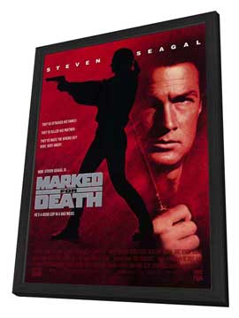 Marked for Death - 27 x 40 Movie Poster - Style A - in Deluxe Wood Frame