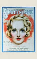 Marlene Dietrich - 11 x 17 Screenland Magazine Cover 1930's Style A
