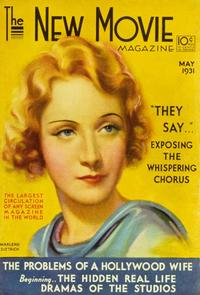 Marlene Dietrich - 11 x 17 The New Movie Magazine Cover 1930's