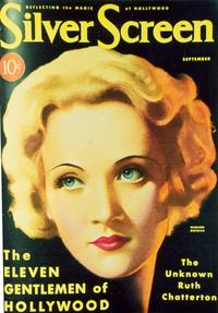 Marlene Dietrich - 27 x 40 Movie Poster - Silver Screen Magazine Cover 1930's Style A