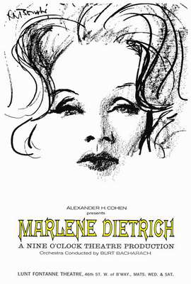 Marlene Dietrich - 27 x 40 Movie Poster - Style A