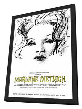 Marlene Dietrich - 27 x 40 Movie Poster - Style A - in Deluxe Wood Frame