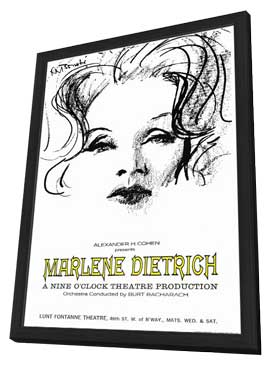 Marlene Dietrich - 11 x 17 Movie Poster - Style A - in Deluxe Wood Frame