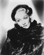 Marlene Dietrich - Marlene Dietrich Posed in Fur Dress with Earrings
