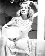 Marlene Dietrich - Marlene Dietrich Posed in White Dress with Bracelet