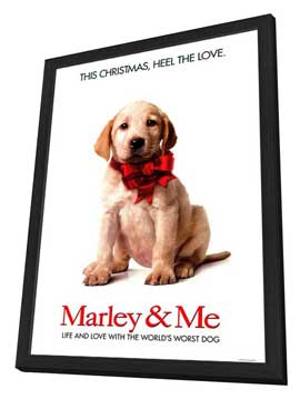 Marley and Me - 27 x 40 Movie Poster - Style A - in Deluxe Wood Frame