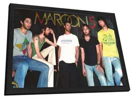 Maroon 5 - 11 x 17 Music Poster - Style A - in Deluxe Wood Frame