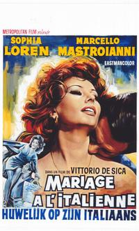 Marriage - Italian Style - 14 x 22 Movie Poster - Belgian Style A