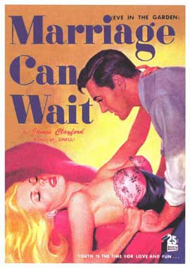 Marriage Can Wait - 11 x 17 Retro Book Cover Poster