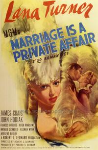 Marriage is a Private Affair - 27 x 40 Movie Poster - Style A