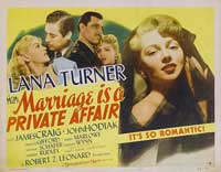 Marriage is a Private Affair - 11 x 14 Movie Poster - Style A