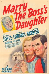 Marry the Boss's Daughter - 43 x 62 Movie Poster - Bus Shelter Style A