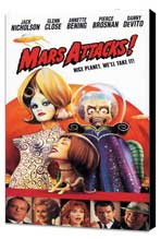 Mars Attacks! - 11 x 17 Movie Poster - Style E - Museum Wrapped Canvas