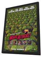 Mars Attacks! - 11 x 17 Movie Poster - Style B - in Deluxe Wood Frame