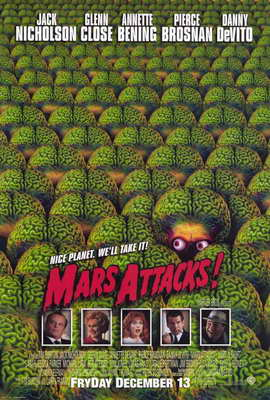 Mars Attacks! - 27 x 40 Movie Poster - Style B