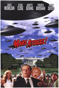 Mars Attacks! - 43 x 62 Movie Poster - Bus Shelter Style A