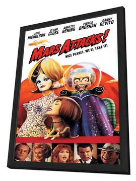 Mars Attacks! - 11 x 17 Movie Poster - Style E - in Deluxe Wood Frame