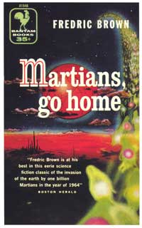 Martians, Go Home - 11 x 17 Retro Book Cover Poster