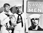 Martin and Lewis (TV) - Dean Martin and Jerry Lewis Scene with Two Men wearing Navy Uniform