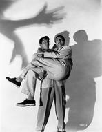 Martin and Lewis (TV) - Dean Martin and Jerry Lewis Portrait with Shadows in Black and White