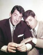 Martin and Lewis (TV) - Dean Martin and Jerry Lewis Scene with a Man wearing Black Suit when the Other One in Brown Suit