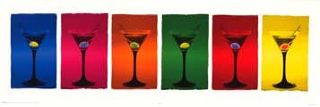 Martini Glasses - Inspirational Posters - 12 x 36 - Style A