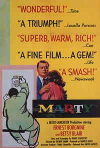 Marty - 43 x 62 Movie Poster - Bus Shelter Style A