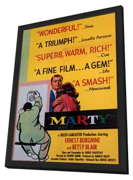 Marty - 11 x 17 Movie Poster - Style A - in Deluxe Wood Frame