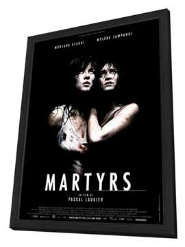Martyrs - 27 x 40 Movie Poster - French Style A - in Deluxe Wood Frame