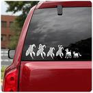 Marvel Heroes - Comics Superhero Family Car Decal Set