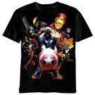 Marvel Heroes - Soldiers Revenge Black T-Shirt