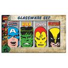 Marvel Heroes - Heroes Faces Shot Glass Set A 4-Pack