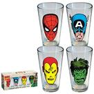 Marvel Heroes - Heroes Faces Pint Glasses 4-Pack