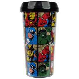 Marvel Heroes - Characters Grid 16 oz. Plastic Travel Mug