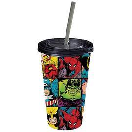 Marvel Heroes - Heroes in Action Plastic Travel Mug