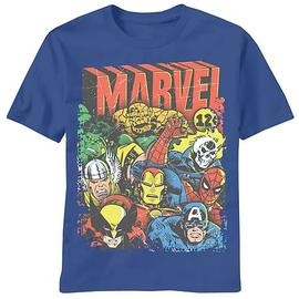 Marvel Heroes - Squad Up Blue T-Shirt