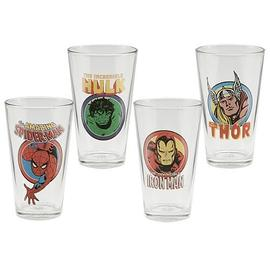 Marvel Heroes - Comics Glasses 4-Pack