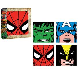 Marvel Heroes - Heroes Faces Glass Coaster 4-Pack